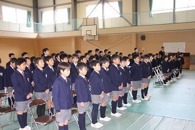 3月13日(金)卒業式全体予行