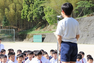 5月8日(金)児童会朝礼
