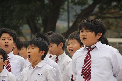 小学校朝礼 10月