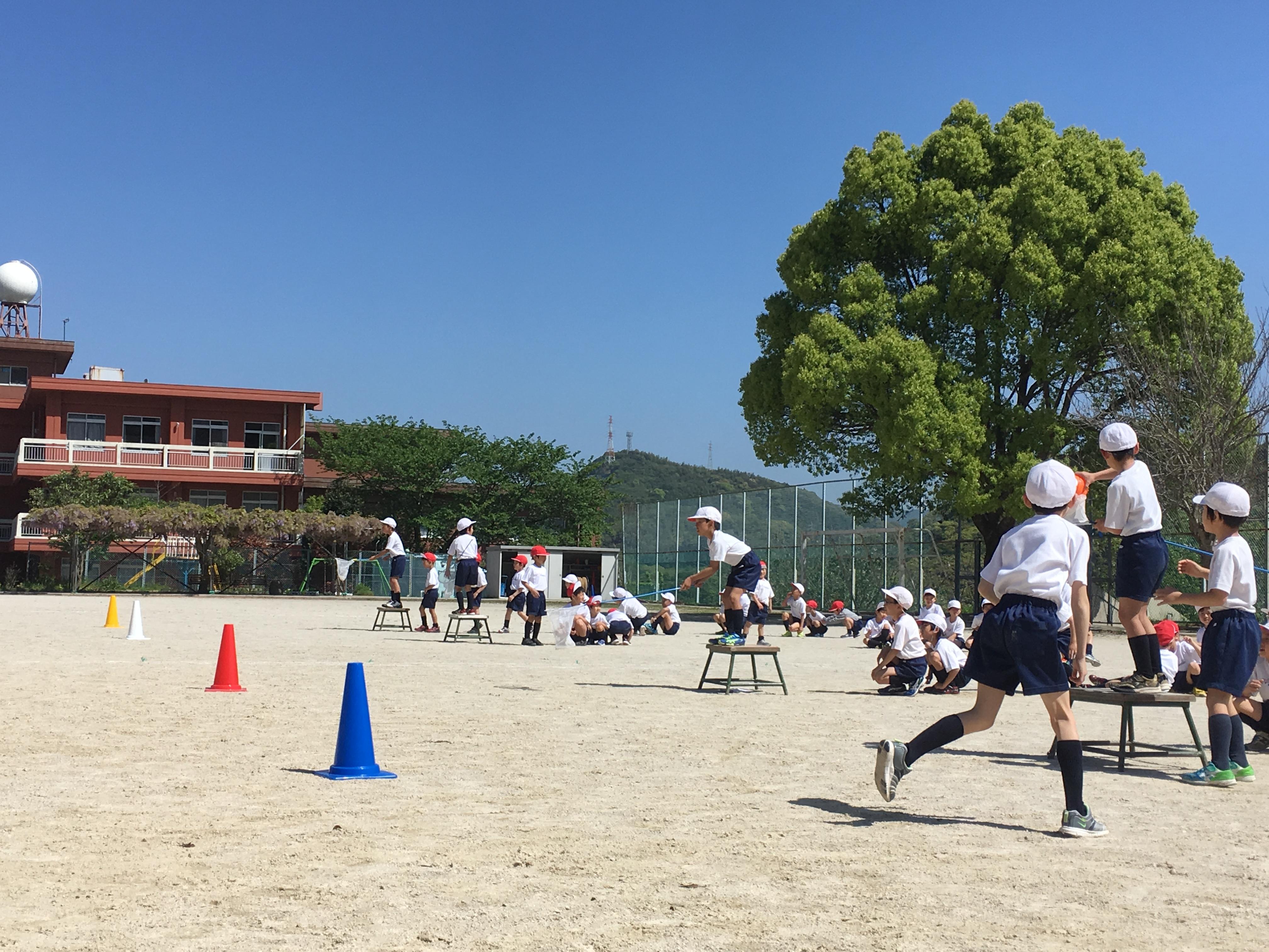 体育祭に向け、練習中!