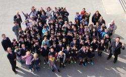 国際交流−佐世保のダービー校児童52名と交流
