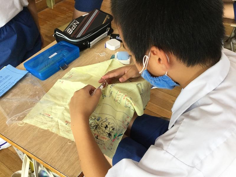 一学期プレイバック(裁縫男子5年)