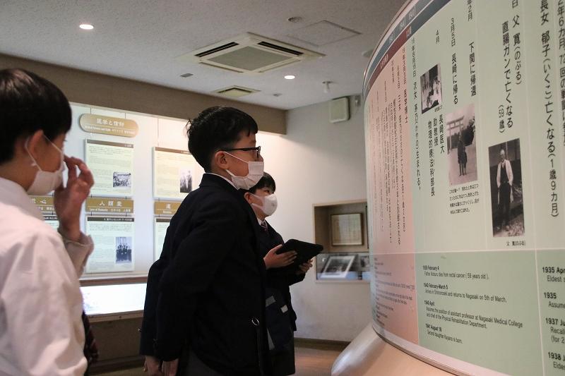 小4 平和学習「永井 隆記念館・如己堂見学」
